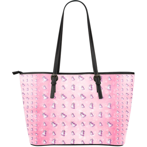 Unicorn Dream Large Leather Tote Bag