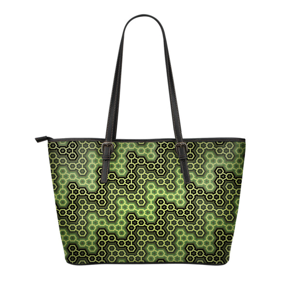 Green Pattern Small Handbag