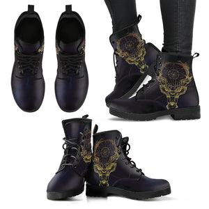 Deer Dream Catcher Women's Leather Boots