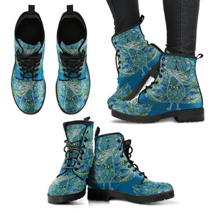Peacock Handcrafted Women's Leather Boots