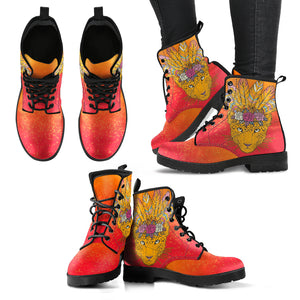 Boho Cat Women's Leather Boots