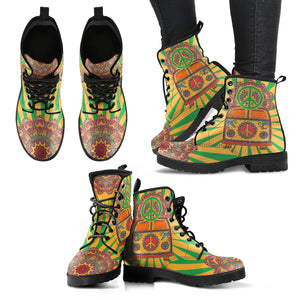 Hippie Van Mandala Women's Leather Boots