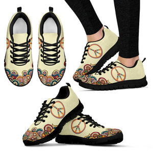 Colorful Peace Handcrafted Sneakers.