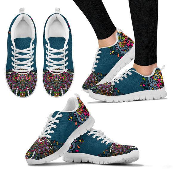 Colorful Elephant Handcrafted Sneakers.