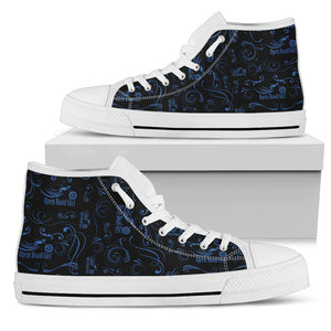 BLUE Scatter Design Open Road Girl White Sole Hi-Top