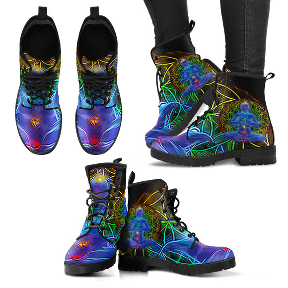 Chakra Balancing Women's Leather Boots