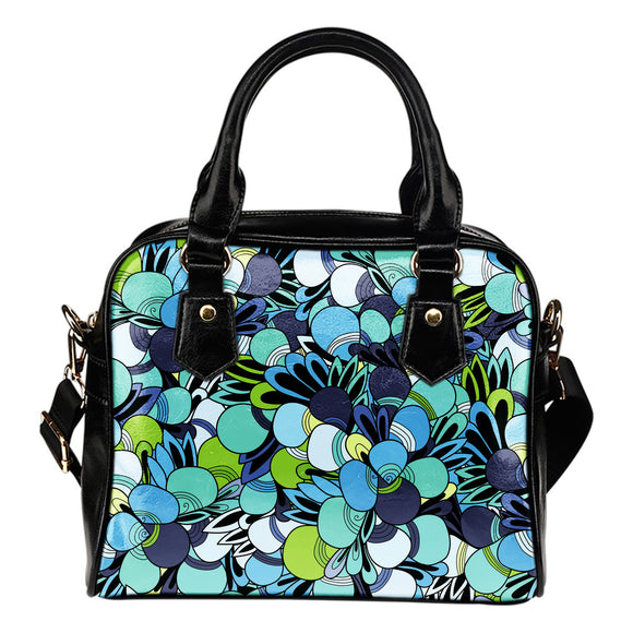 Funky Patterns in Blues - Shoulder Bag