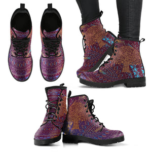 Henna Tree of Life 1 Women's Leather Boots