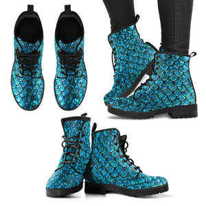 Cute Mermaid Boots - Women's Leather Boots