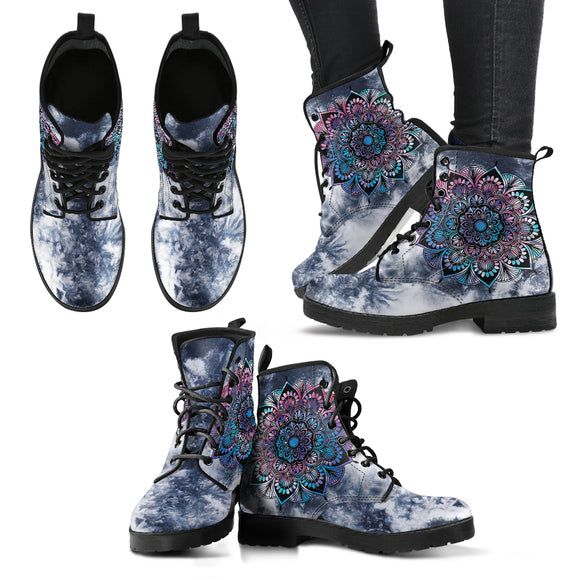 TieDye Mandala Women's Leather Boots