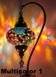 Handmade Boho Swan Neck Table Lamps