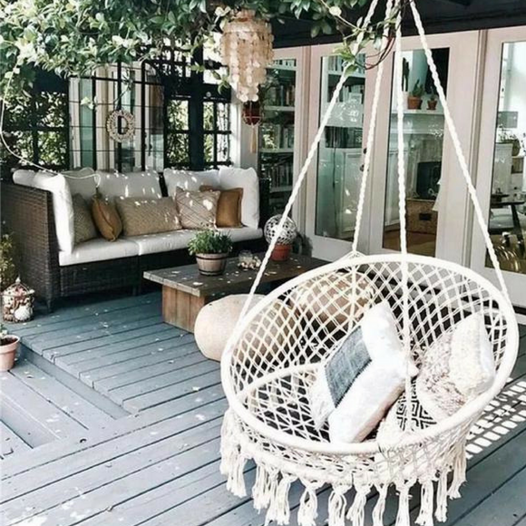Handmade Boho Hanging Hammock Swing Chair