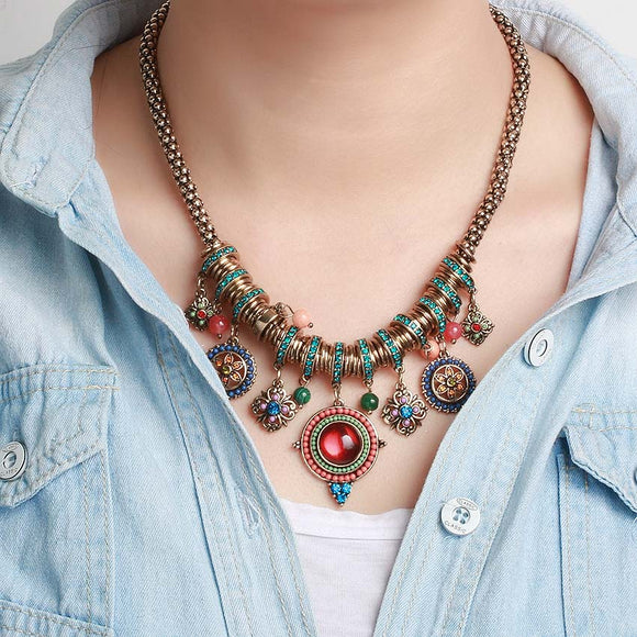 Vintage Handmade Bohemian Necklace