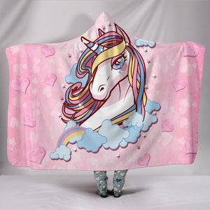 Unicorn Dream Hooded Blanket