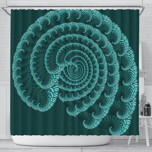 Shower Curtain - Blue Seashell