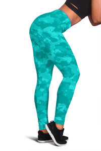 Camo Leggings Blue