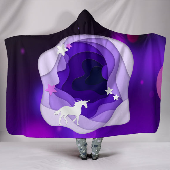 Unicorn Magic Hooded Blanket