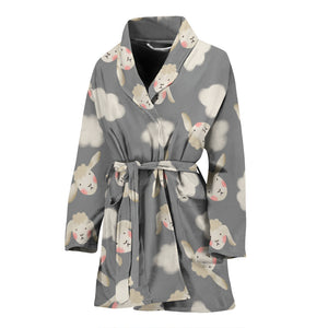 Sheeps N Clouds WOMEN'S BATHROBE