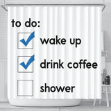 Shower Curtain To-Do