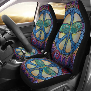 Dragonfly Peace Car Seat Covers ( Set Of 2 )