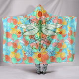 Dragonfly 3 Hooded Blanket