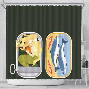 Mermaid Can Shower curtain V.2