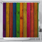 Shower Curtain ~ Wood