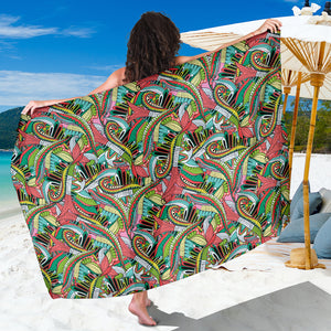 Funky Patterns in Greens - Sarong Wrap