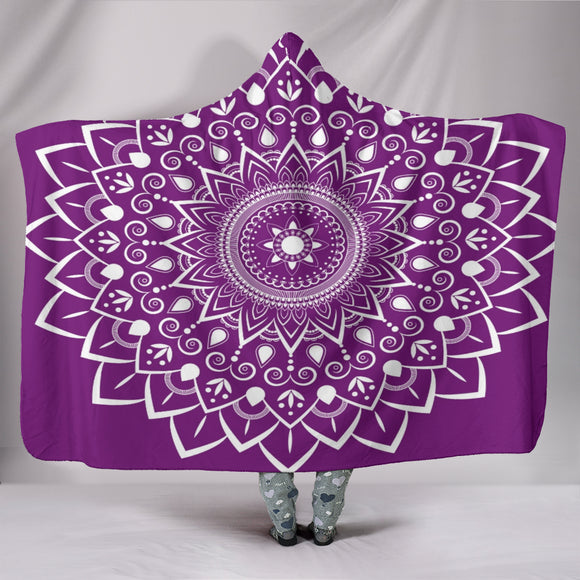 Mauve Mandala Custom Hooded Blanket
