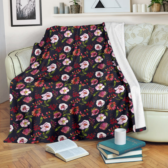 Floral Blush Pastel Roses Peonies - Throw Blankets