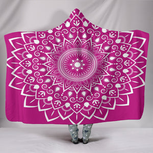 Raspberry Mandala Custom Sherpa Hooded Blanket