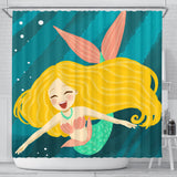 Mermaid Happiness Shower Curtain