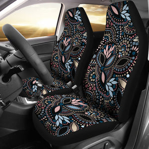 Tribal Beads Car Seat Covers ( Set Of 2 )