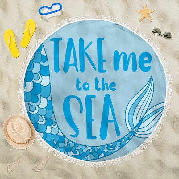 Mermaid Beach Blanket- Take Me To The Sea