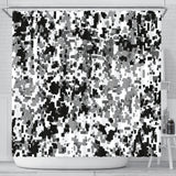 Black & White Camouflage Shower Curtain
