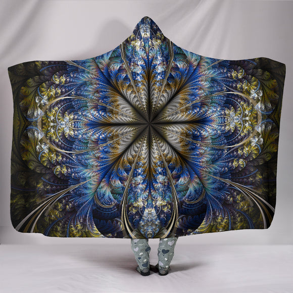 Fractal Mandala Hooded Blanket