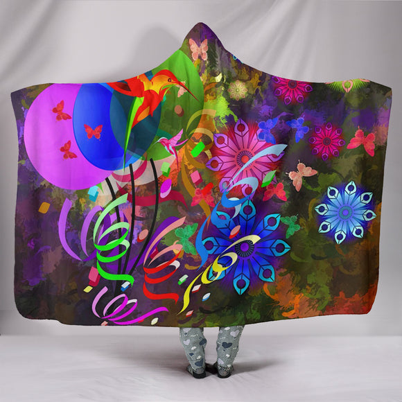 Hooded Blanket - Digital Floral