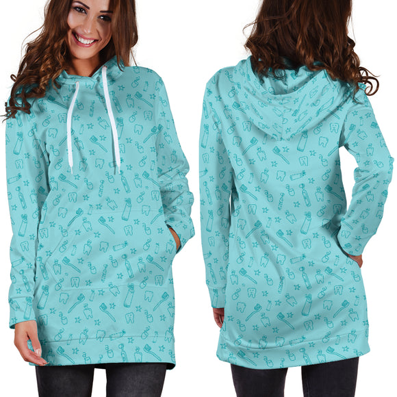 Turquoise Dental Hoodie Dress ... Great For Dental Hygienist, RDH, CDA, DDS, DMD