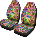 Peace Symbols Car Seat Covers ( Set Of 2 )
