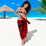 Sarong Black & Red