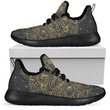 New Mesh Golden Lotus Mandala 3b black