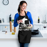 Grilled Unicorn Womens Apron (Black)