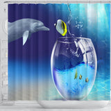 Cute ocean fish Shower Curtain