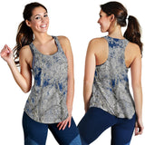 Women's Racerback Tank - Frost and Sky #3 Design