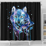 Watercolour Wolf Shower Curtain
