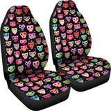 Black Owls Car Seat Covers ( Set Of 2 )