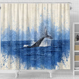 Shower Curtain ~ Whale
