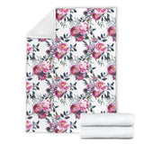 Floral Grey Roses & Peonies - Throw Blankets