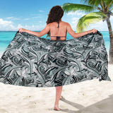 Funky Patterns in Blacks - Sarong Wrap