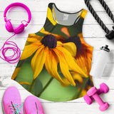 Women's Racerback Tank - Yellow Daisies Design